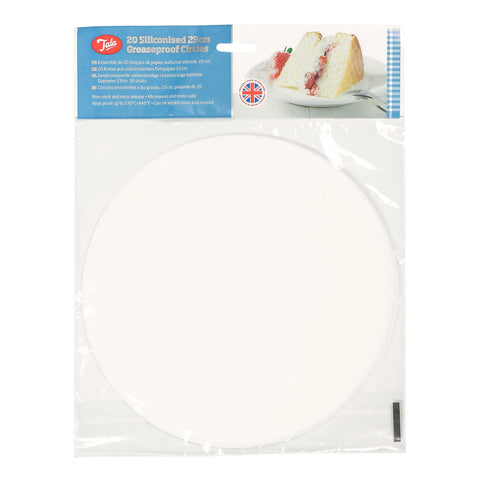 Tala 20 Siliconised 23cm Greaseproof Circles