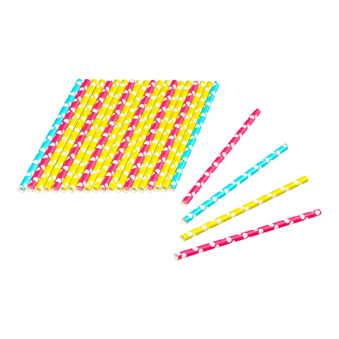 Tala 24 Dotty Coloured Paper Straws