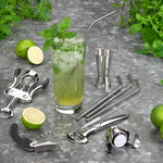 Tala 4 Stainless Steel Straws With Cleaning Brush