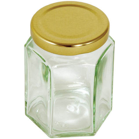Tala Hexagonal Jar With Gold Screw Top Lid 228g