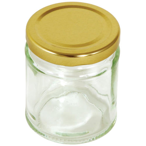 Tala Round Preserving Jar With Gold Screw Top Lid 190ml