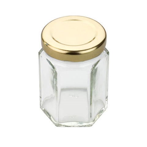 Tala Hexagonal Jar With Gold Screw Top Lid 55ml