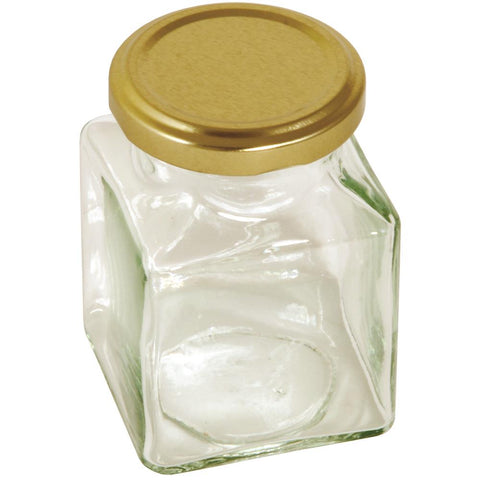 Tala Square Jar Gold Screw Lid 200ml/7oz