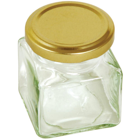 Tala Square Jar WithGold Screw Top Lid 130ml / 5oz