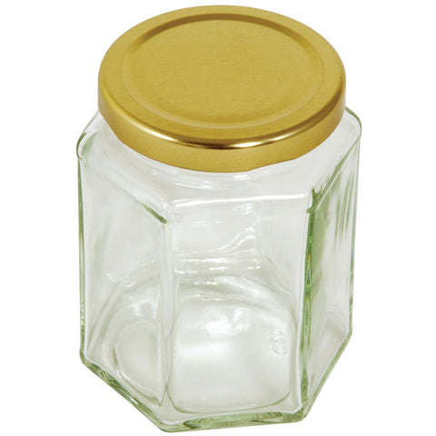 Tala Hexagonal Jar With Gold Screw Top Lid 340g