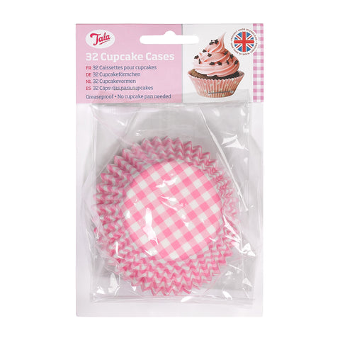 Tala 32 Pink GinghamCupcake Cases