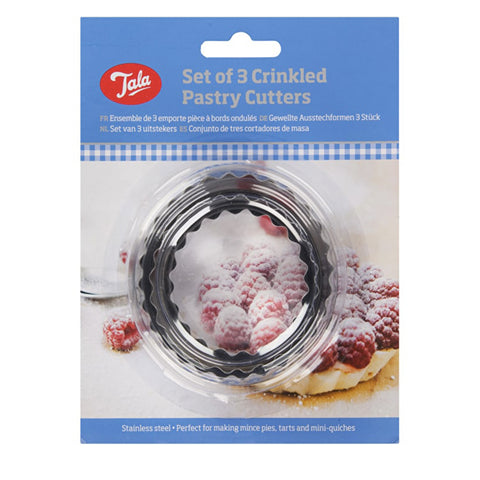 Tala Set of 3Crinkled Pastry Cutters