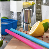 4 Silicone Straws with Brush