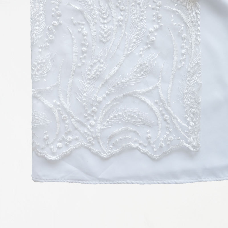 Lace Dress Clear White
