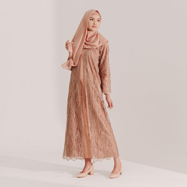 Lace Dress Caramel