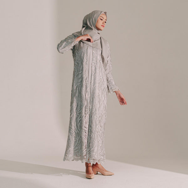 Lace Dress Silver (Reject)