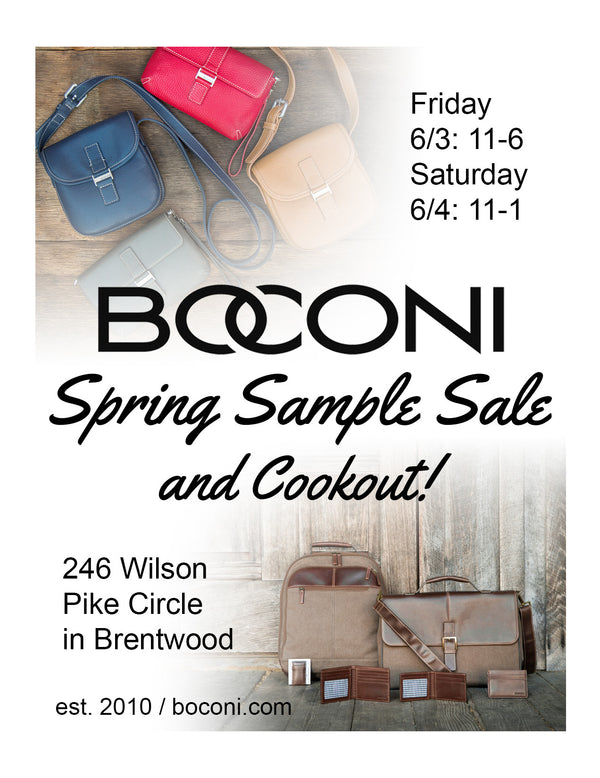 Spring Sample Sale & Cookout!