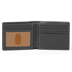 Tyler Tumbled Rock Solid Billfold in Black