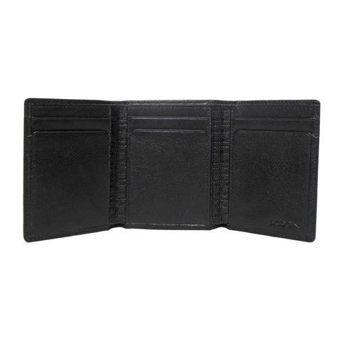 Grant Trifold Wallet in Black