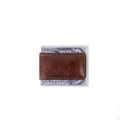 Caleb Magnetic Money Clip in Chestnut