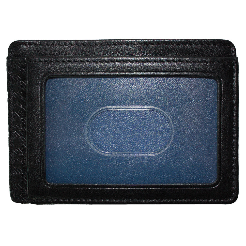 Collins Calf Rock Solid RFID Weekender ID Card Case in Black