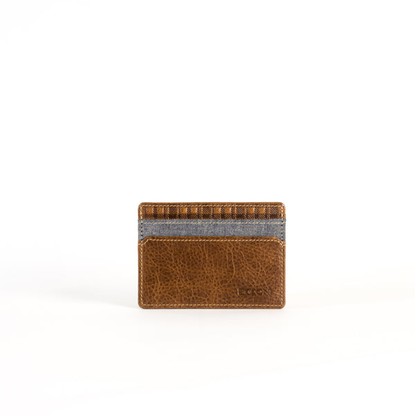 Caleb LTE Weekender ID Card Case in Chestnut & Chambray