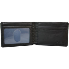 Collins Calf Rock Solid RFID Slimster in Black