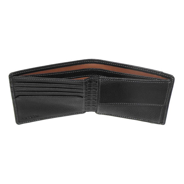 Tyler Tumbled Travel Wallet in Black
