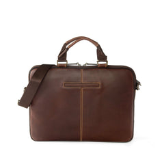 Bryant Sleeve Brief Case Bag in Antiqued Mahogany