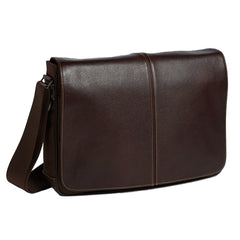 Tyler Tumbled Slim  Messenger Bag in Coffee