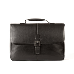 Tyler Tumbled Brokers Bag in Black