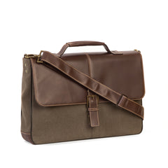 Bryant LTE Brokers Bag in Mahogany and Heather