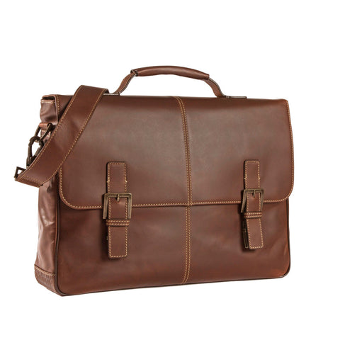 Bryant Saddle Messanger Bag in Antiqued Mahogany