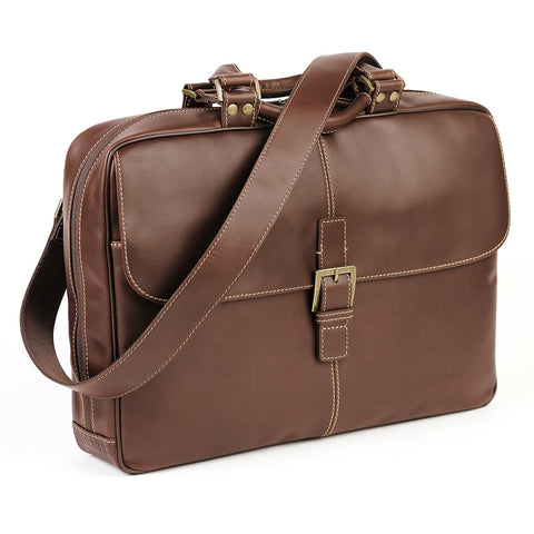 Bryant Analyst Bag in Antiqued Mahogany