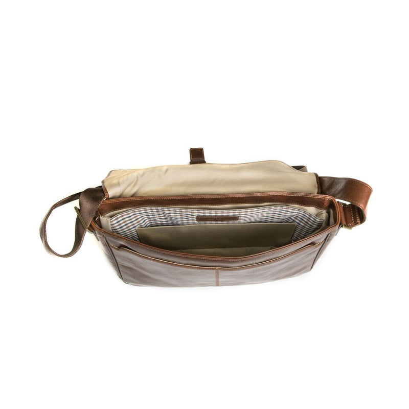 Becker Buckle Messenger Bag in Whiskey