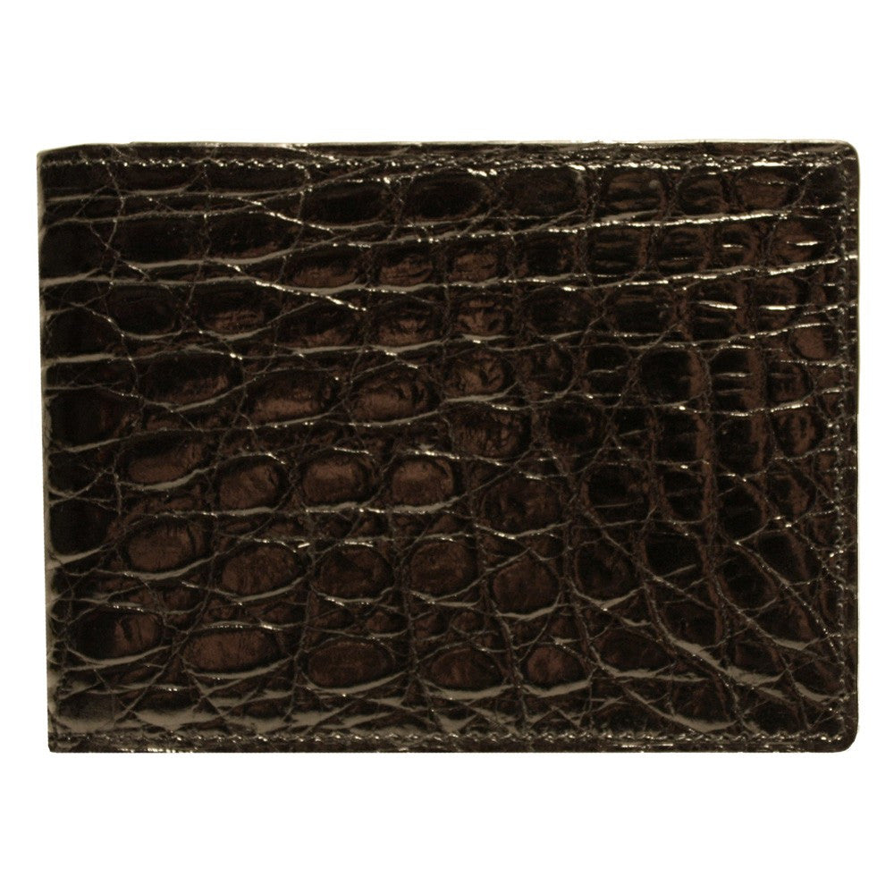 Crocodile Skin Slimfold in Black