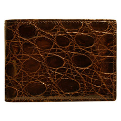 Crocodile Skin Slimfold in Brown