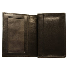 Alligator Gusseted Card Case in Black