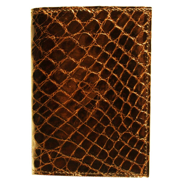 Crocodile Skin Gusseted Card Case