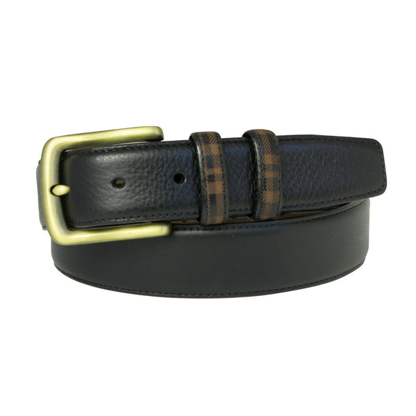Hendrix Leather Belt in Black
