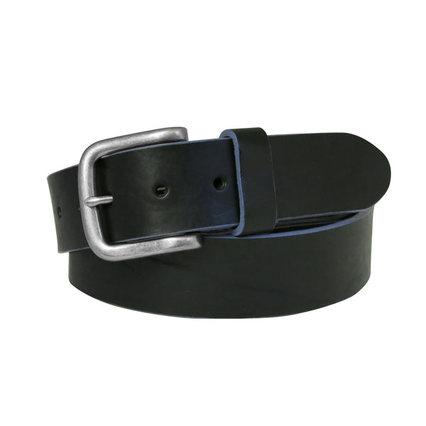 Bastian Leather Belt in Black