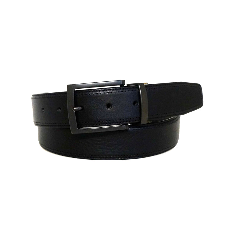 Becker Leather Reversible Belt in Black/Brown