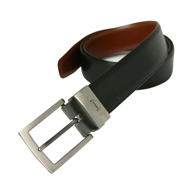 Xavier Reversible Belt in Black/Brown