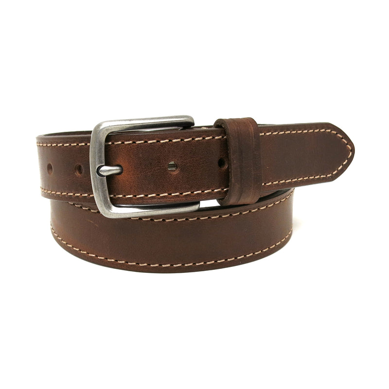 Bryant Leather Belt in Mahogany
