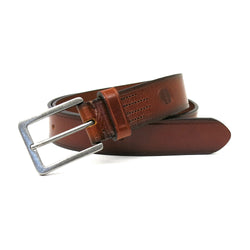 Bono Leather Belt in Cognac