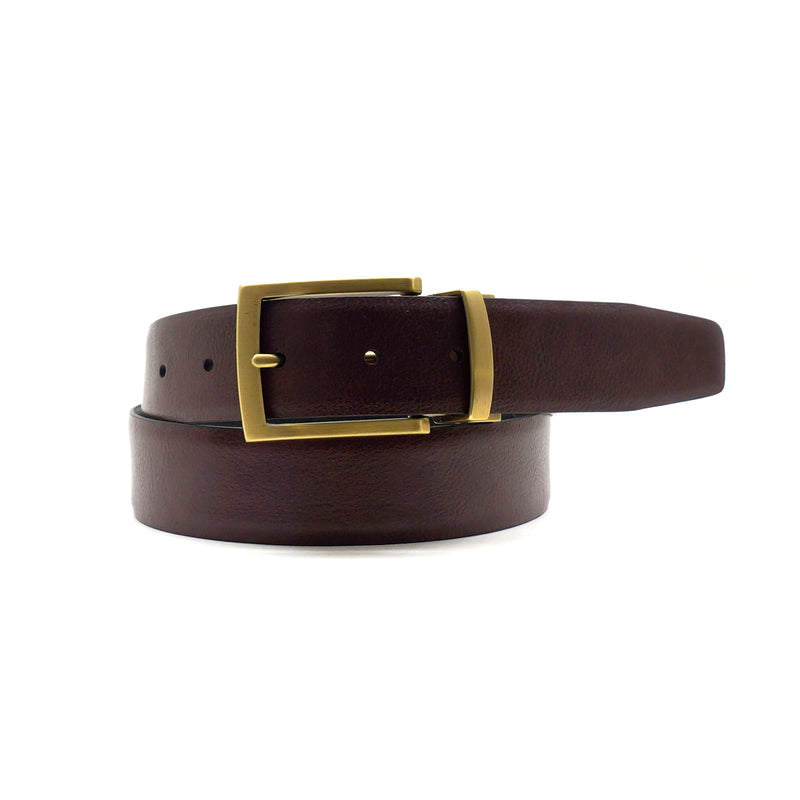 Manny Reversible Belt in Black/Burgundy
