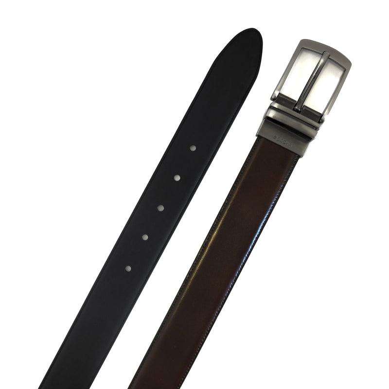 Mason Reversible Belt in Brown/Black