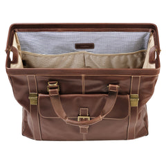 Bryant Safari Bag in Antiqued Mahogany