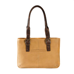 Leon E/W iPad Tote in Camel