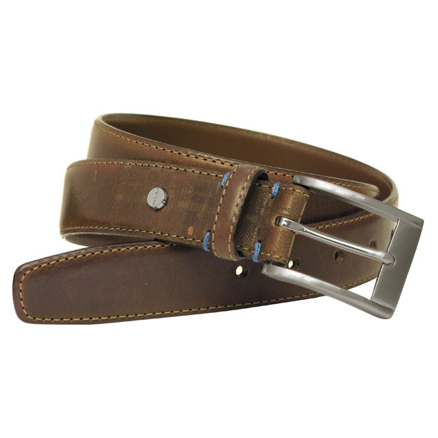 Collins Leather Belt in Cognac