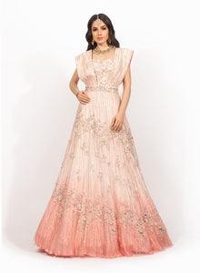 Pink Beadwork Gown SS033