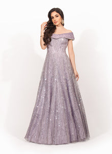 Lilac Sequin Gown SS022
