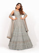 Grey Beadwork Gown VDS008
