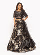 Black Floral Embroidered Lehenga SS028