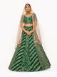 Green Threadwork Lehenga SS032